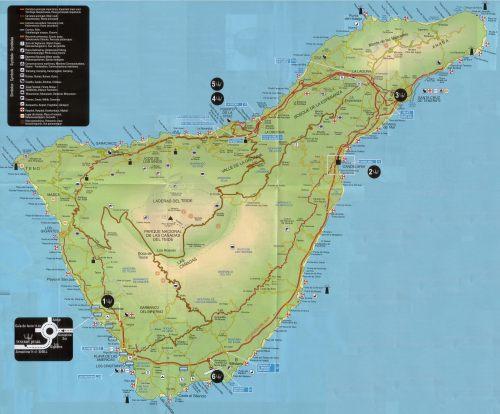 Недвижимость на Канарских островах остров Тенерифе Tenerife. Интерактивная карта острова Тенерифе.