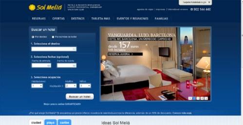 Крупнейшая сеть отелей в Испании Соль Мелиа  Sol Melia