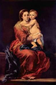 Музей Прадо Мадрид Испания Мурильо Мадонна с Четками 1650-55 годы Холст, Масло 164х110 см Bartolomé Esteban Murillo Madonna