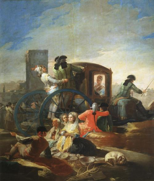 Музей Прадо в Мадриде Франсиско Гойя Продавец Посуды 1779 год Холст, Масло 259х220 см  Сacharrero Goya