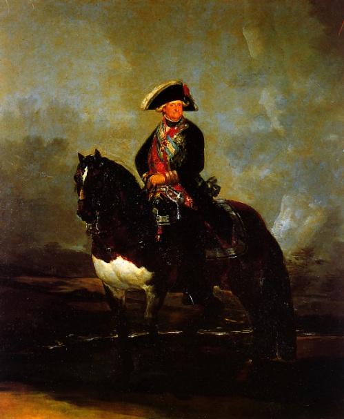 Музей Прадо в Мадриде Конный Портрет Карла IV 1801 год Холст , Масло 336х282 см  Carlos IV a Caballo
