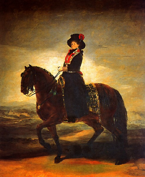 Музей Прадо в Мадриде Конный портрет Королевы Испании Марии Луизы 1799 год Холст, Масло 338х282 см Goya Maria Luisa
