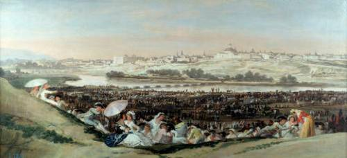 Музей Прадо в Мадриде Франсиско Гойя Луг Святого Исидро 1788 год Холст, Масло 42х90 см La pradera de San Isidro Goya