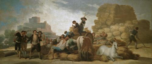 Музей Прадо в Мадриде Франсиско Гойя Молотильщики или Лето 1786 год Холст, Масло 276х641 см  El Verano Goya