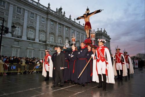 Процессия у Королевского Дворца   Святая Неделя в Мадриде  Semana Santa  Madrid