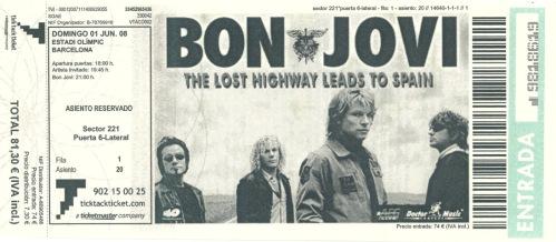 Концерты Бон Джови Bon Jovi в Испании в Барселоне и Сан Себастьяне в июле 2011 года