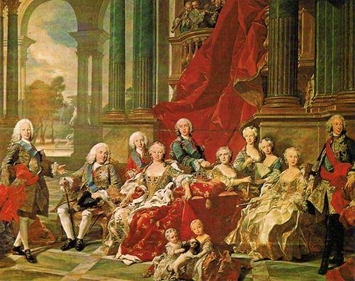 Семья  короля Филиппа V   французкий художник Луи-Мишель ван Лоо, Дворец Ла Гранха де Сан Ильдефонсо