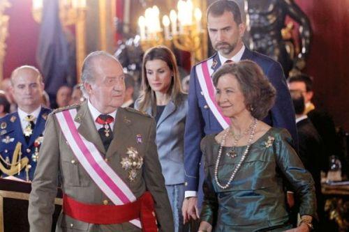 Королевская Семья Испании Король Хуан Карлос I и Королева София , Принц Филипп и Принцесса Литисия
