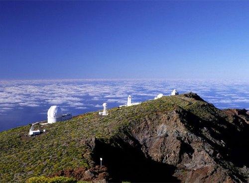 Обсерватория на вершине пика Роке де лос Мучачос (2426 м.) Roque Muchachos Palma Остров Ла Пальма Канарские Острова Испания