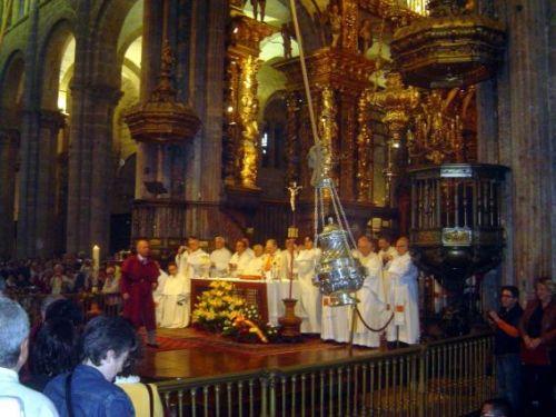 Праздник Сантьяго в Кафедральном соборе в городе Сантьяго де Компостела Catedral de Santiago de Compostela