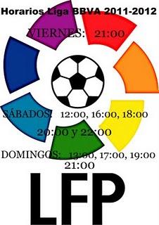 Расписание Чемпионата Испании по футболу Лиги BBVA сезона 2011-2012 годов