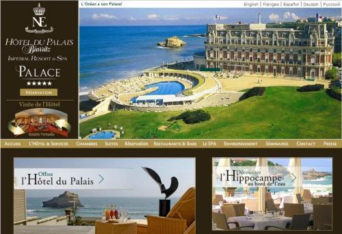 """Бывший Королевский дворец Наполеона III , сейчас  Отель ду Палаис """"Hotel du Palais"""" Биарритц  Biarritz   Франция"""