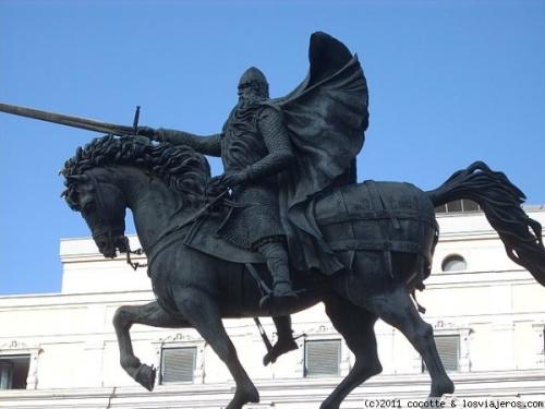 Памятник Сиду Победителю в городе Бургосе EL Cid Campeador Burgos