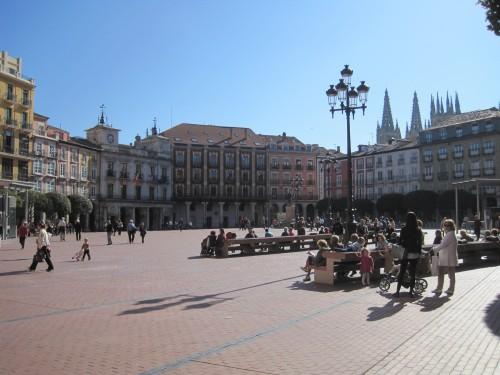 Главная площадь города Бургос Burgos Пласа Майор Plaza Mayor
