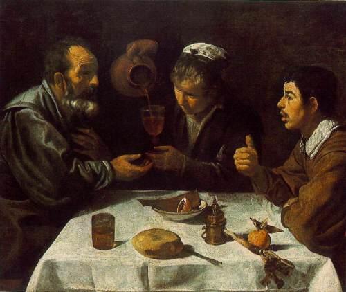 """Диего Веласкес """"Завтрак"""" """"El Almuerzo""""  на выставке Эрмитажа в Музее Прадо в Мадриде"""