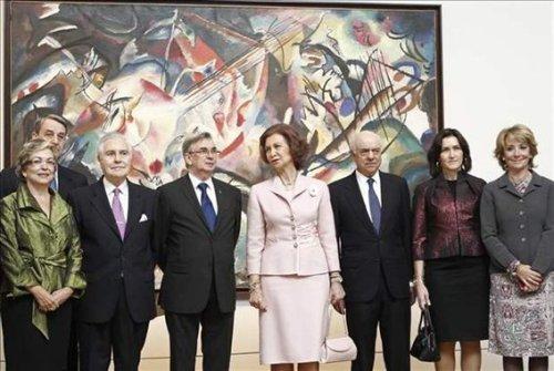 """Королева Испании , София , открывает выставку """"Сокровища Эрмитажа"""" в Музее Прадо в Мадриде"""