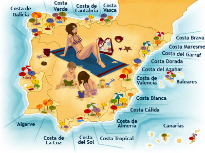 Бронирование отелей в Испании , все побережья  Испании, бронирование без предоплаты