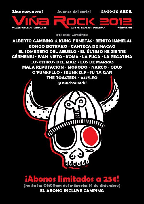 Рок фестиваль Винья Рок Viña Rock 2012 . Билеты на концерты в Испании.