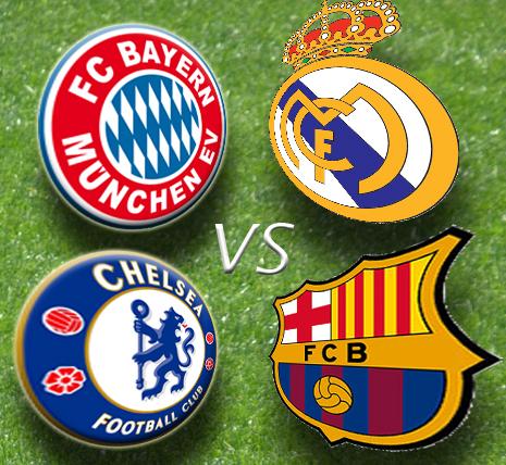 Лига Чемпионов УЕФА UEFA Champions League 2011-2012 1/2 финала , полуфинал  Реал Мадрид- Байер, Барселона -Чесли