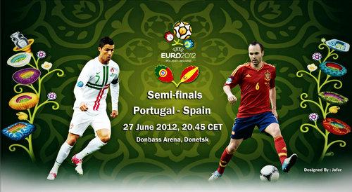 Полуфинал 1/2 финала Испания-Португалия Видео Голы Счет