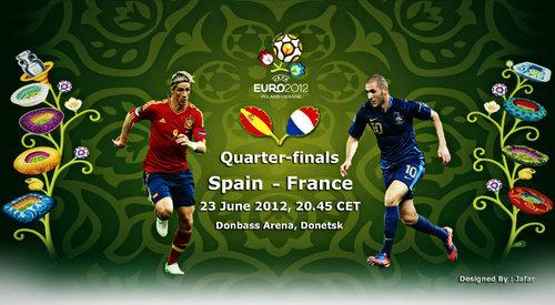 Футбол Евро 2012 Чемпионат Европы по футболу Euro 2012 . 1/4 финала Испания-Франция Голы Видео Счет