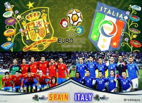 Футбол Евро 2012 Чемпионат Европы по футболу Euro 2012 . Финал Испания Spain - Италия Italy