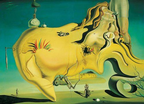 """""""Лицо Великого Мастурбатора""""  Visage du Grand Masturbateur (Rostro del Gran Masturbador) 1929  год Сальвадор Дали Музей Королевы Софии Мадрид"""