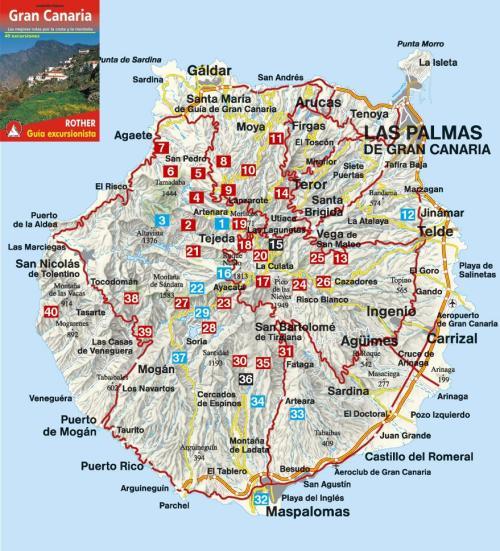 Пляжный и Экскурсионный  Тур Канарские Острова , Мадрид Madrid  – Остров  Гран Канария Gran Canaria  7 дней, Карта Острова  Гран Канария Gran Canaria