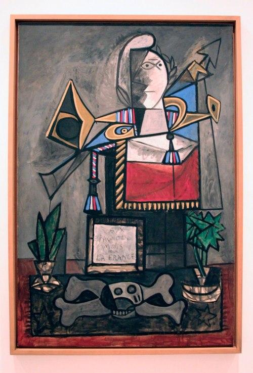"""Пабло Пикассо Pablo Ruiz Picasso """"Монументы испанцам погибшим за Францию""""  Monumentos a los españoles muertos por Francia 1946-1947 годы  Музей Королевы Софии Мадрид Испания"""