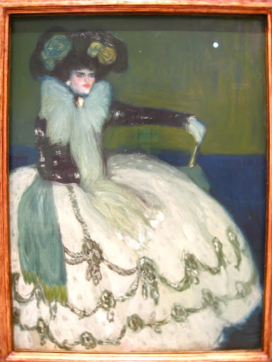 """Пабло Пикассо Pablo Ruiz Picasso """"Женщина в голубом Mujer en azul """" 1901 год Музей Королевы Софии Мадрид Испания  , размер 133 x 100 см"""