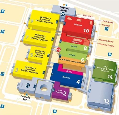 План выставки ФИТУР FITUR 2013 в Мадриде