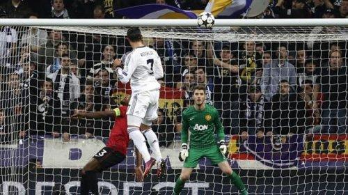 Гол Кристино Рональдо в ворота Манчестер Юнайтед счет 1-1