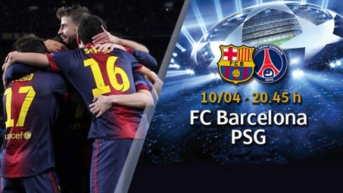 Лига Чемпионов Champions League 1/4 финала ФК Барселона FC Barcelona Испания   – ПСЖ PSG Париж Франция