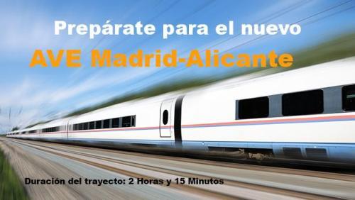 18 июня 2013 года будет открыта новая линия скоростного поезда АВЕ AVE Мадрид Madrid - Аликанте Alicante