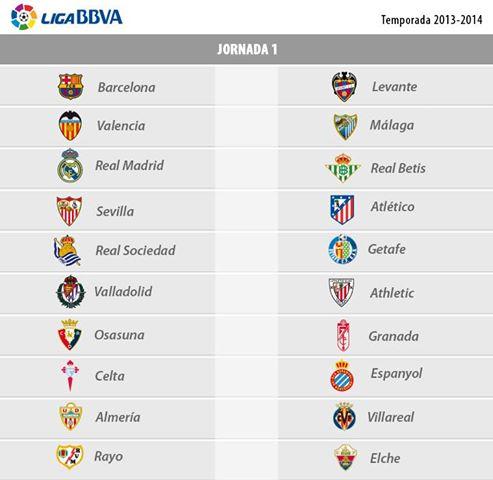 Чемпионат Испании по Футболу-Расписание матчей сезон 2013-2014 годы . Билеты на футбол