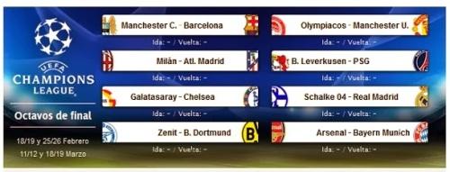 Расписание Лига Чемпионов Champions League 2013-2014 Календарь Реал Мадрид Real Madrid  1/8  финала Билеты на футбол