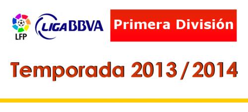 Турнирная таблица 1-й круг Чемпионат Испании по футболу сезон 2013-2014 . Лучшие бомбардиры Испанская Примера Лига BBVA 2013-2014