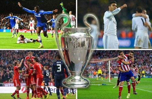 Расписание 1/2 финала ,  Полуфиналы Лиги Чемпионов Сhampions League сезон 2013-2014. Реал Мадрид - Байерн (Бавария ), Атлетико Мадрид - Челси. Билеты на футбол