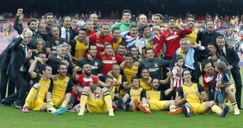Атлетико Мадрид Atlético de Madrid Чемпион Испании по футболу сезона 2013-2014
