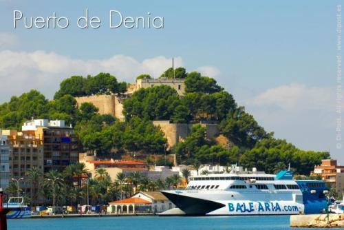 Аренда апартаментов на Коста Бланка Costa Blanca ,  город Дения (Dénia) 1-я линия моря, пляж Лес Маринес (Les Marines, Las Marinas)