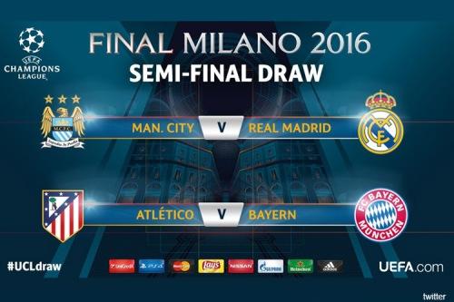 Купить билеты на футбол . Полуфинал,1/2 финала Лиги Чемпионов Champions League 2015-2016 . Реал Мадрид - Манчестер Сити 4 мая 2016 года.