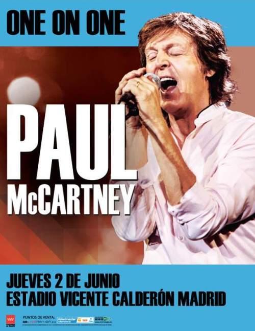 Купить билеты на концерт Поля Маккартни Paul McCartney в Мадриде 2 июня 2016 года на стадионе Висенте Кальдерон Estadio Vicente Calderón