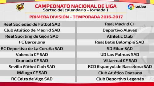 Чемпионат Испании по Футболу- Расписание матчей сезон 2016– 2017 годы. Календарь игр Лига ББВА Liga BBVA 2016-2017. Билеты на футбол