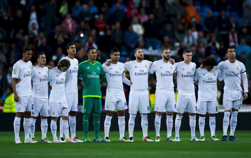 Весь состав футбольной команды испании
