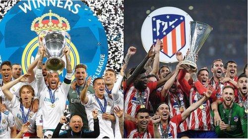 Суперкубок Европы УЕФА сезон 2017-2018 г. Мадридский финал Реал Мадрид - Атлетико Мадрид 15 августа 2018 года.