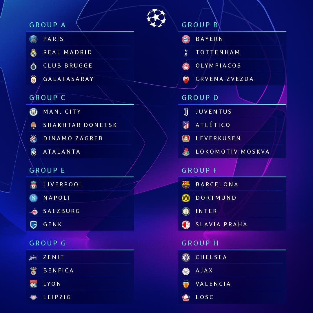 Календарь матчей реал мадрид в лиги чемпионов