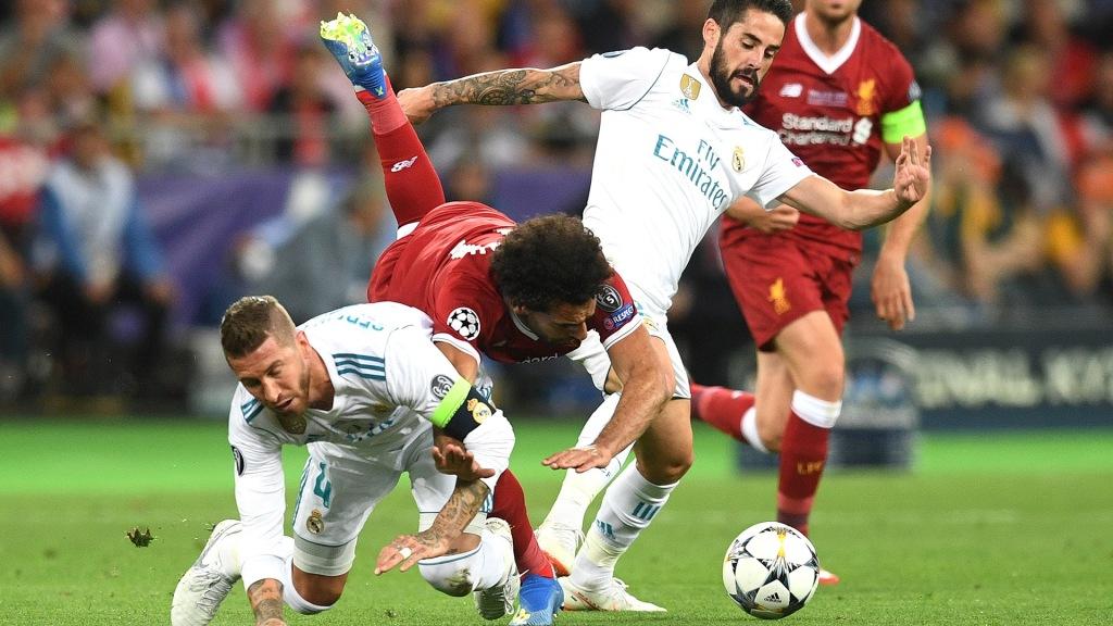 Лига Чемпионов сезон 2020-21 годы, 1/4 финала Реал Мадрид - Ливерпуль  , 6  и 14 апреля 2021 года.